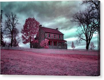 Rose Farm In Infrared Canvas Print