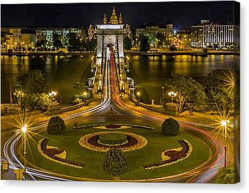 Roundabout Bridge In Hungary Canvas Print