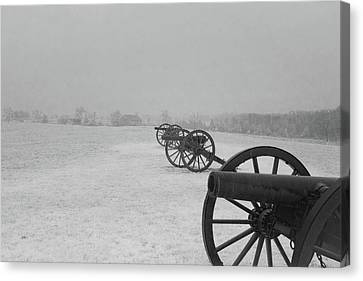Row Of Cannon Canvas Print