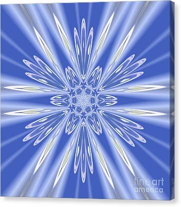 Royal Blue Star Canvas Print