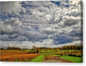 Canvas Print featuring the photograph Rural New Paltz Hudson Valley Ny by Susan Candelario