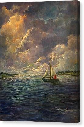 Sailing The Divine Light Canvas Print