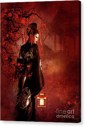 Sakura Red Canvas Print