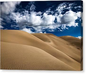 Sand Dunes Under A Blue Sky Canvas Print