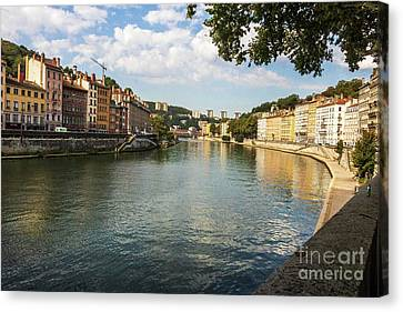 Saone River View Canvas Print