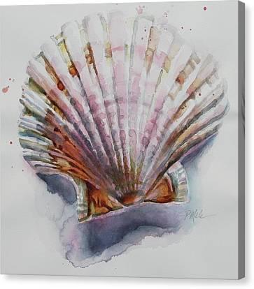 Scallop Seashell Canvas Print