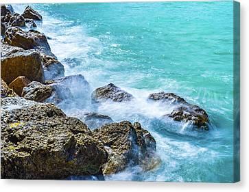 Sea Rocks In Montego Bay Canvas Print