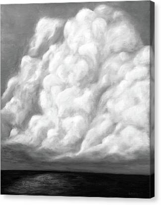 Silence. Black And White. Cloud Series. Canvas Print