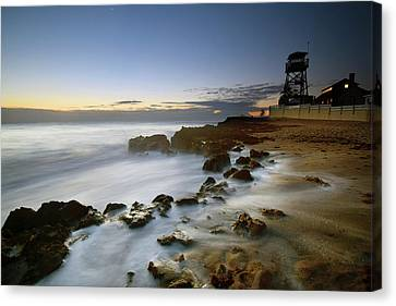 Silhouette House Of Refuge Canvas Print