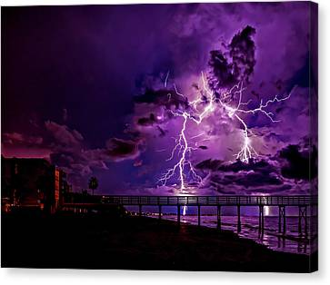 Siren's Song In Purple Canvas Print