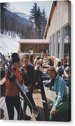 Ski Fashion At Sugarbush Canvas Print