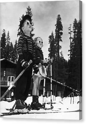 Ski Kids Canvas Print