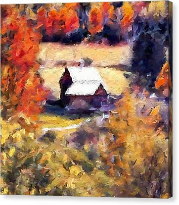 Sleepy Hollow Autumn Colors Canvas Print