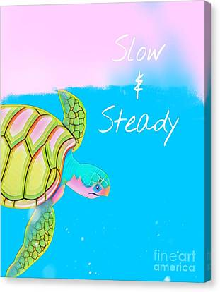 Slow And Steady Canvas Print