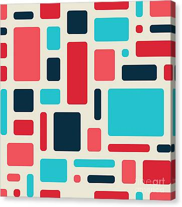 Soft Geometric Pattern In Retro Canvas Print by Vector Fx