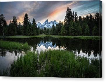 Spring Sunset In Grand Teton National Park Canvas Print