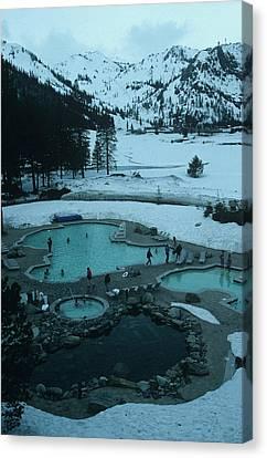Squaw Valley Pool Canvas Print