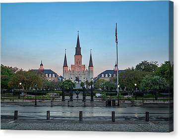 St. Louis Cathedral At Sunrise Canvas Print