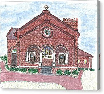 St. Paul's Episcopal Church In Monroe, Nc Canvas Print