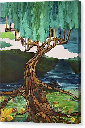 Stained Glass Roots Canvas Print