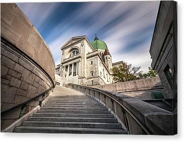 Stairway To St Joseph Oratory Canvas Print