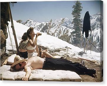 Sun Valley Snow Canvas Print