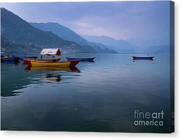 Sunken Boats  Canvas Print