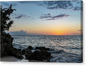 Sunset Afterglow In Negril Jamaica Canvas Print