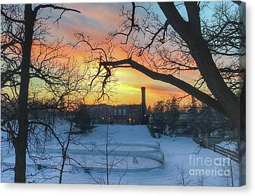 Sunset At The Pit Canvas Print