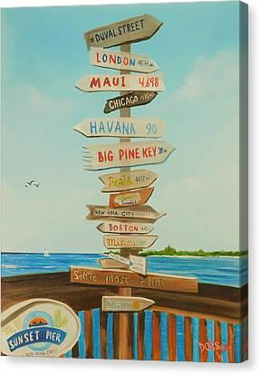Sunset Pier Tiki Bar Zero Duval Street - Key West Canvas Print