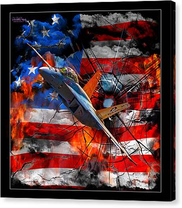 Super Hornet Flag Custom Canvas Print