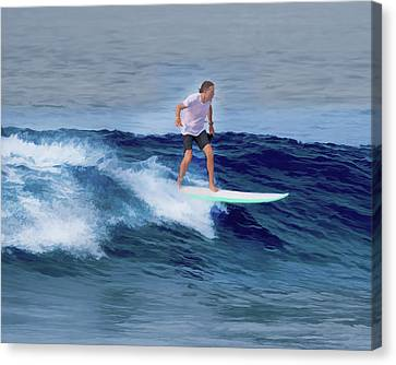 Surfing Andy Canvas Print