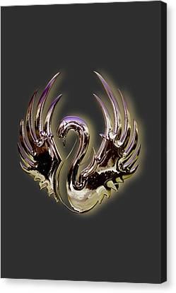 Swan Glory Canvas Print