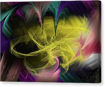 Swirl Of Cosmic Energy That Escapes Through A Space-time Fracture Into Another Universe Canvas Print
