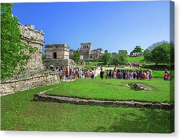 Temples Of Tulum Canvas Print