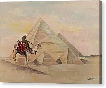 The Egyptian Pyramids Canvas Print