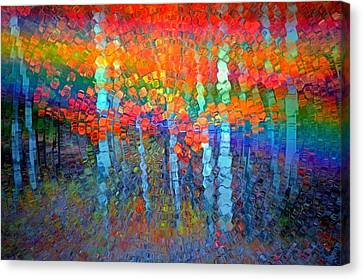 The Forest Breathes In Colour Canvas Print