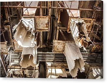 The Ghost Of Factories Past Canvas Print