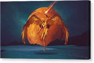 The Golden Angel Canvas Print