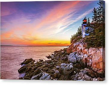 The Moment Of Sunset Canvas Print