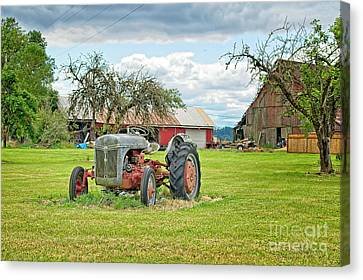 The Old Tractor Canvas Print
