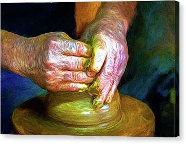 The Potter's Hands, Trinidad, Cuba Canvas Print
