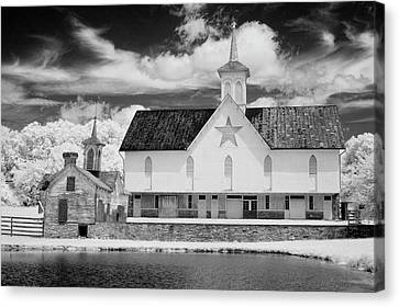The Star Barn In Infrared Canvas Print