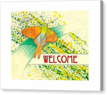 The Welcome Moth Canvas Print