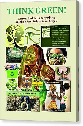 Think Green Canvas Print