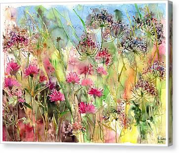 THISTLE SCOTTISH SCOTLAND FLOWER ABSTRACT Painting Canvas art Prints