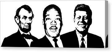 Three Leaders Canvas Print