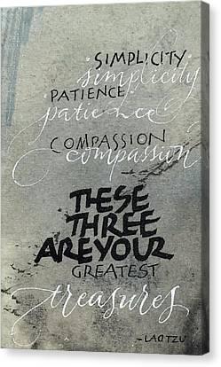 Three Treasures Canvas Print