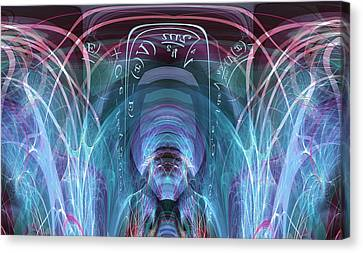 Canvas Print featuring the digital art Time Traveler by Robert G Kernodle