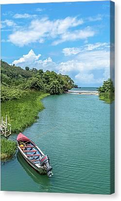 Tour Boat In Jamaica Canvas Print